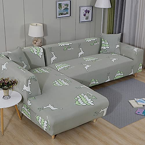 Funda de sofá elástica Estampada, Hermoso patrón Decorativo, Toalla para sofá de Sala de Estar, Funda de sofá Antideslizante para Sala de Estar A10 de 2 plazas