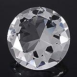 Walfront Pisapapeles de piedra de diamante sintético grande de diamantes de imitación de cristal transparente para joyería de 6 cm