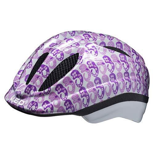 KED Fahrradhelm Meggy II Trend – Kinder- und Jugendhelm in robuster maxSHELL-Technologie und QUICKSAFE-Blinkleuchten - (M (Kopfumfang 52-58 cm), Trend Pearl Violet)