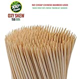 OXYSKEW Bamboo Barbecue Wooden Skewers, Natural & Organic .8 Inches Long & 3