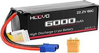 HOOVO 6S 22.2V 6000mAh 60C LiPo Battery with EC5 and XT90 Plug for RC Quadcopter Truck Boat Airplane Helicopter UAV Drone FPV