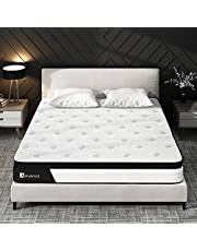 King Mattress, Avenco Hybrid Mattress King, 10 Inch Innerspring and Gel Memory Foam Mattress in a Box, with CertiPUR-US Foam for Supportive, Pressure Relief & Cooler Sleeping, 10 Years Support