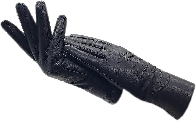 Gloves winter ladies sheepskin gloves black