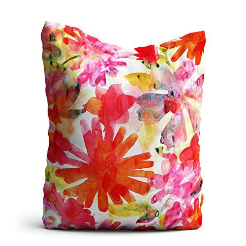Homesphere Zitzak zomerbloem - XXL reuzezitzak, 140x180 cm, zitzak outdoor/indoor, met binnenzak
