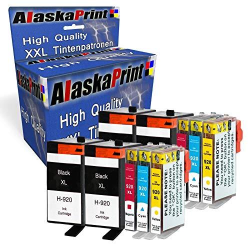 10 XXL Tintenpatronen kompatibel für hp 920xl 920 XL für HP Officejet 6000 6500 7000 7500 7500A 6500A Plus E709 Tinte Drucker Patrone mit Chip und Füllstandsanzeige