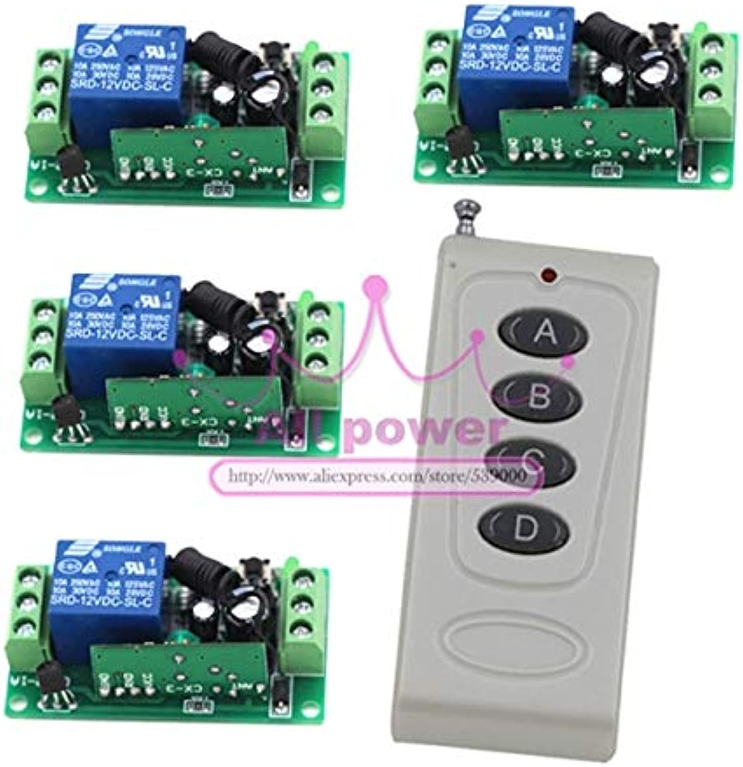 Remote Control Switch Wireless Remote Switches RF Remote Plug Radio on Off for Door Window 315 433Mhz