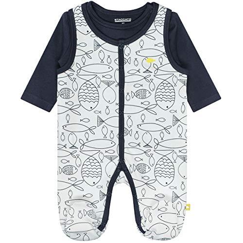 Staccato Unisex Baby Strampler mit Shirt Organic Cotton Bio-Baumwolle Light Grey Gr/ö/ße 44-62 Basic Erstausstattung