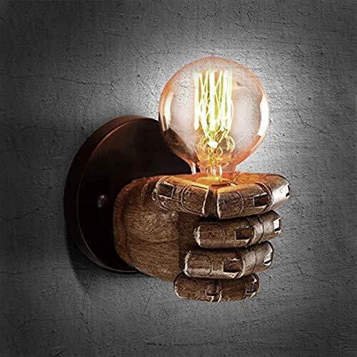 MGWA Luces de Pared Puño Loft Forma de la lámpara lámpara de Pared de iluminación Iluminación Interior de la Vendimia del Hierro E27 Edison del Bulbo for la Barra de Inicio Salon-Izquierdo
