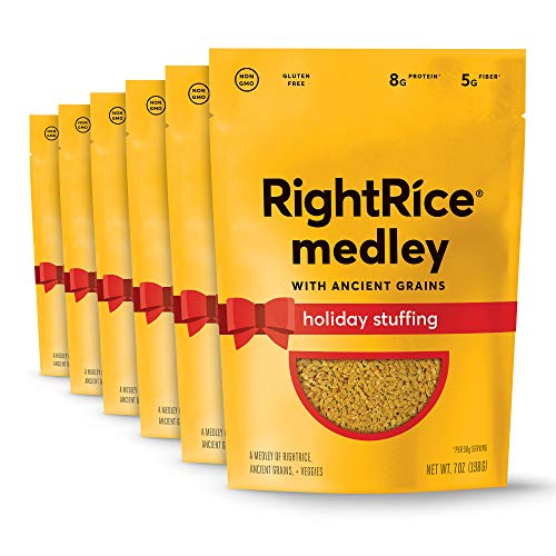 RightRice Medley - Holiday Stuffing (7oz. Pack of 6) - Made from Vegetables – Ancient Grains and More Veggies, Vegan, non GMO, Gluten Free