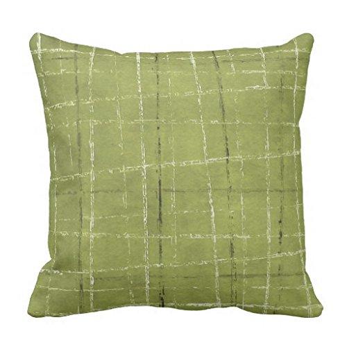 Olive Grün Weiß Schwarz Plaid Muster Überwurf Kissen