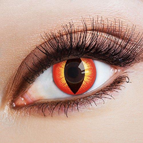 aricona Kontaktlinsen - rote Halloween Kontaktlinsen Katzenaugen - bunte farbige Kontaktlinsen ohne Stärke