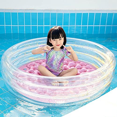 DUNLIN Summer Baby Inflatable Natación Lentejuela Piscina Niños Gran Pink Rosa Muchacha Redonda Piscina Flotante Air Cushion Bañera (Color : 90cm X 25cm)