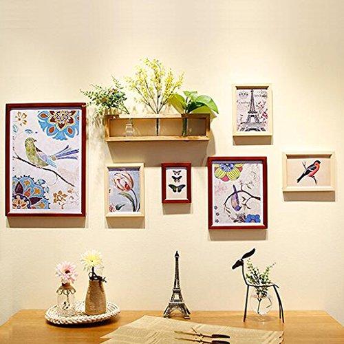 Dongyd Multi-Frames Bilderrahmen Halter aus Holz Bilderrahmen Set Vintage Bilderrahmen Wanddekoration Foto Murale