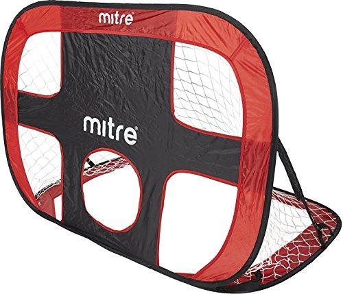 Mitre Quick Pop-up-Torwand Fußballtor, Rot/Schwarz, A9228RBH-ONESZ