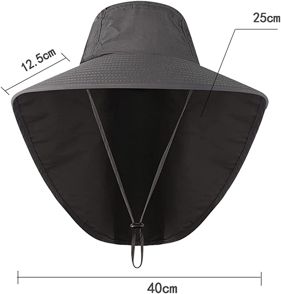 Unisex Anti-UV Hat Summer Outdoor Fishing Rock Climbing Sun Hat with Neck Guard Protective Hat Sun Hat