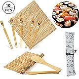 Kit per Fare Sushi in bambù, 10Pcs Sushi Set, Tappetino per Arrotolare Il Sushi, Include ...