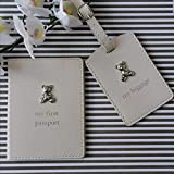 Childrens First Passport 'Baby Bambino' Cover and Luggage Tag Gift Set CG1010