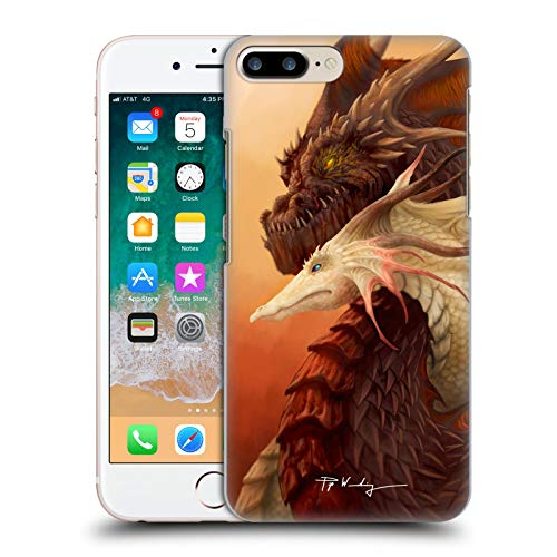 Head Case Designs Ufficiale Piya Wannachaiwong Legame dei Draghi Draghi Colorati Cover Dura per Parte Posteriore Compatibile con Apple iPhone 7 Plus/iPhone 8 Plus
