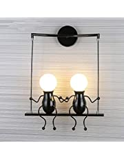 FSTH Eenvoudige wandlamp swing metalen wandlamp creatieve wandlamp cartoon lamp voor bar, slaapkamer, keuken, restaurant, café, hal E27