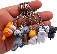 Astra Gourmet Cat Keychains - 6 Collectable Figurines - Features a Detachable Keyring - Authentic Japanese Design - Durable Plastic