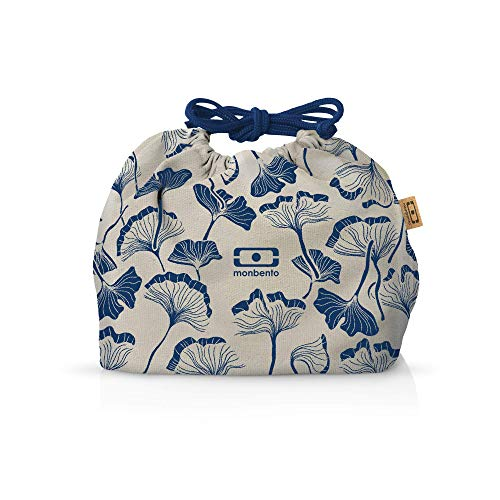 monbento - MB Pochette graphic Ginkgo Lunch bag - Sac bento Polyester avec motifs japonais - Idéal pour les lunch box MB Original MB Square & MB Tresor