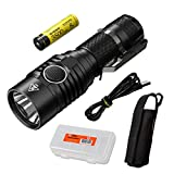 Nitecore MH23 1800 Lumen USB Rechargeable Mini Flashlight with 3500mAh 8A Rechargeable High Performance Battery & LumenTac Battery Organizer