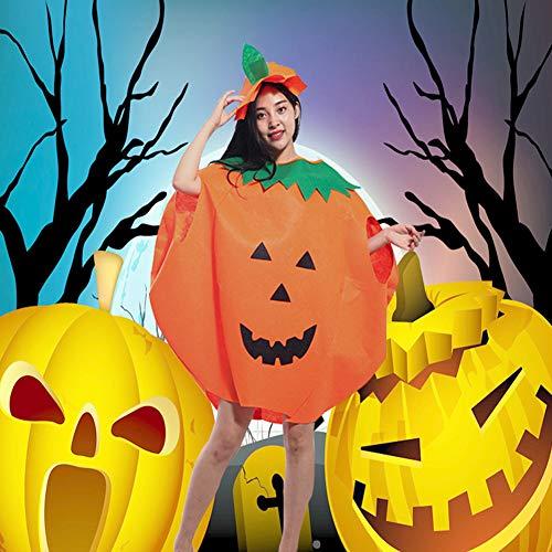 Leoie Pompoen Kostuum Halloween Cosplay Prestatie Kleding voor Kinderen Volwassen Eén maat Volwassen pompoen pak