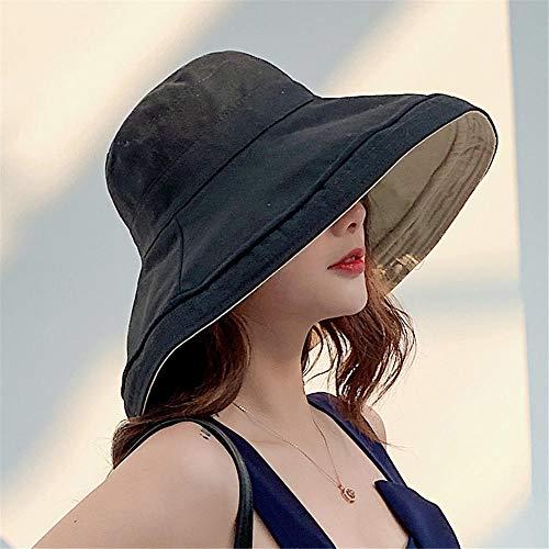 pequeño y compacto HUANGBO Summer Hat Bucket Sombrero de ala grande, impermeable, plegable anti-UV,…