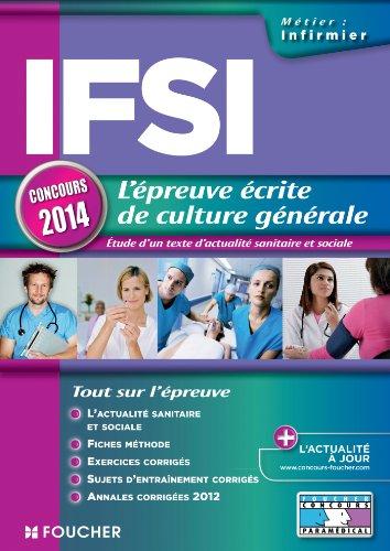 IFSI l'épreuve écrite de culture générale concours 2014