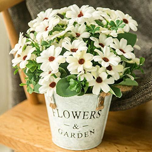 Kunstbloem decoratie, nep bloempot decoratie ornament, vaas bloemen set, eettafel TV kast ingang woonkamer salontafel woninginrichting (ijzeren bloempot)