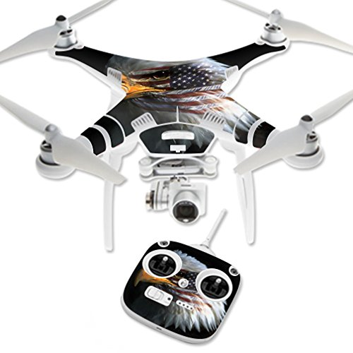 MightySkins Skin Compatible with DJI Phantom 3 Standard Quadcopter Drone wrap Cover Sticker Skins Eagle Eye