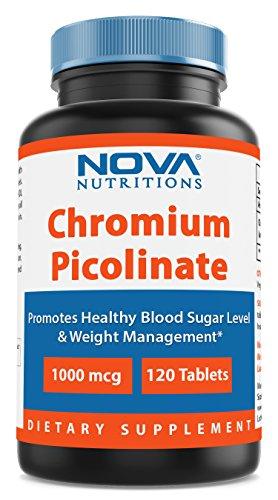 Nova Nutritions Chromium Picolinate 1000mcg 120 Tablets