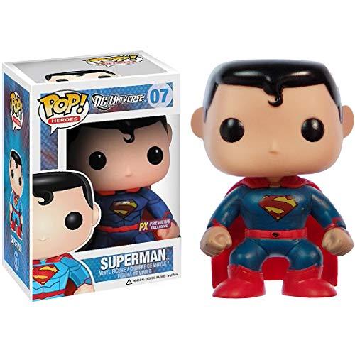 Funko Superman (PX Exclusive): DC Universe x POP! Heroes Vinyl Figure & 1 POP! Compatible PET Plastic Graphical Protector Bundle [#007 / 03028 - B]