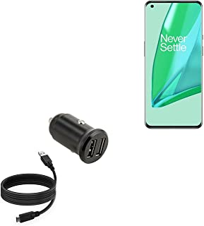 Carregador de carro para OnePlus 9 Pro (carregador de carro da BoxWave) – Carregador de carro mínimo com cabo DirectSync, ...