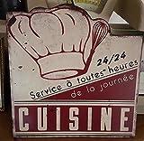 plaque 'cuisine 24/24' antic line 29*30 cm