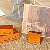 KAIGOTOQIGO 10 Pcs Wood Base Clip Holder DIY Table Name Number Card Holder Picture Memo Note Photo Message Clip for Christmas Party Wedding Table Name (Paint+Large)