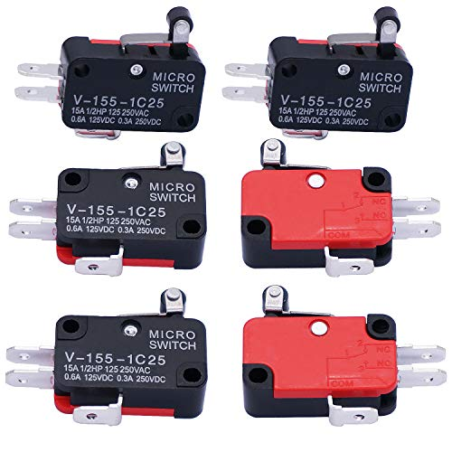 mxuteuk - 6 interruptores de bisagra corta para Arduino V-155-1C25