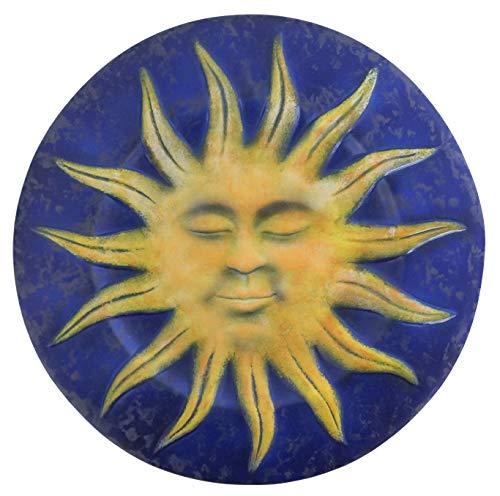 ARTEPACO - Plato de pared con forma de sol, decoración de casa, de cerámica, decoración de casa y jardín, diámetro de 25 cm.