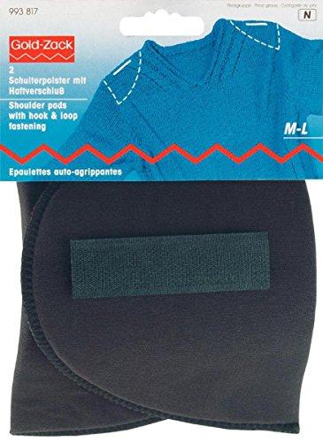 Prym Shoulder Pads Set-in with Hook and Loop Fastening Black M-L