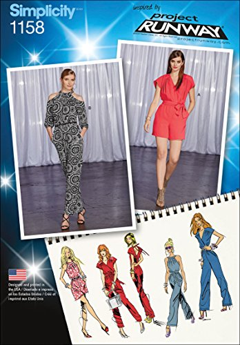 Simplicity Patterns US1158R5 Misses Project Runway Jumpsuits, R5 (14-16-18-20-22)