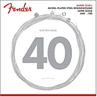 Fender エレキベース弦 7250 Bass Strings, Nickel Plated Steel, Long Scale, 7250L .040-.100