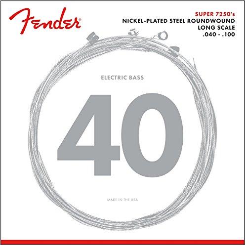 Fender 073-7250-403 Juego de cuerdas para bajo eléctrico-7250L (040/100) - Niquelado