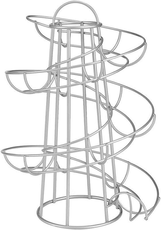 Jzenzero Egg Holder Stand Modern Spiraling Dispenser Storage Rack Save Space For Kitchen