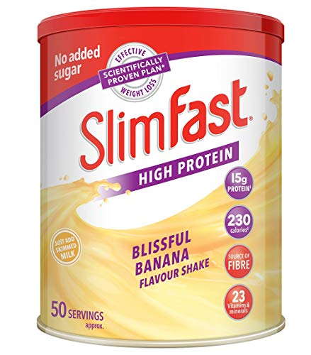 SlimFast Meal Replacement Powder Shake, Blissful Banana, 50 Serving