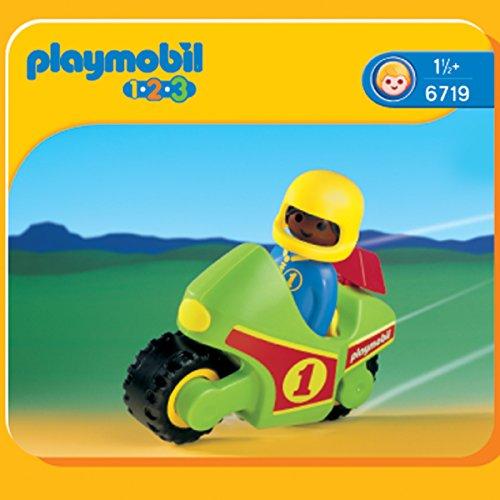 PLAYMOBIL - 1.2.3 Moto de Carreras (6719