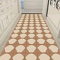 廊下ラグ・カーペット ベージュの抽象的な幾何学的な廊下ランナーラグ、 ベッドルーム/キッチン/エントランス用の現代的な滑り止めエリアラグ、ロング5ft / 7ft / 8ft / 10ft / 12ft / 15ft / 20ft (Size : 0.8x2m/2.6x6.6ft)