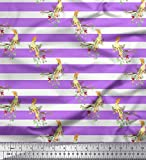 Soimoi Lila Baumwolle Batist Stoff Streifen & Victoria
