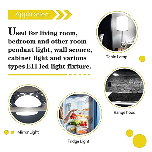 All-New-(102LEDs) E11 Led Bulbs, 80W or 100W Equivalent Halogen Replacement Lights, Dimmable, Mini Candelabra Base, 850 Lumens Daylight White 6000K, AC110V/ 120V/ 130V, Replaces T4 /T3 JD e11,4 Pack