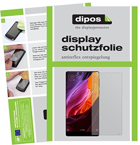 dipos I 2X Schutzfolie matt kompatibel mit Xiaomi Mi Mix 2 Folie Bildschirmschutzfolie