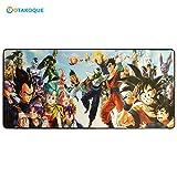Alfombra de ratón Manga para Gamer XXL |tapis de ratón ergonómico, tamaño grande (90 x 40 x 3) 900 * 400 * 3 mm | Mouse Pad antideslizante caucho Natural y confortable 90x40DragonBall1